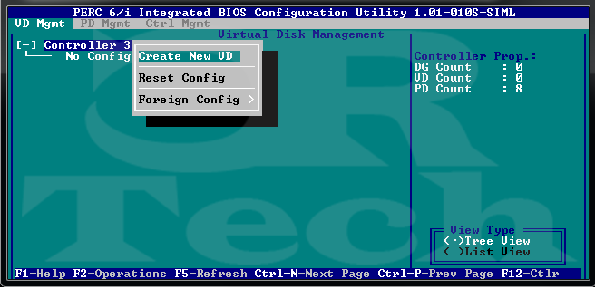 Creating RAID in PERC BIOS | CRTech